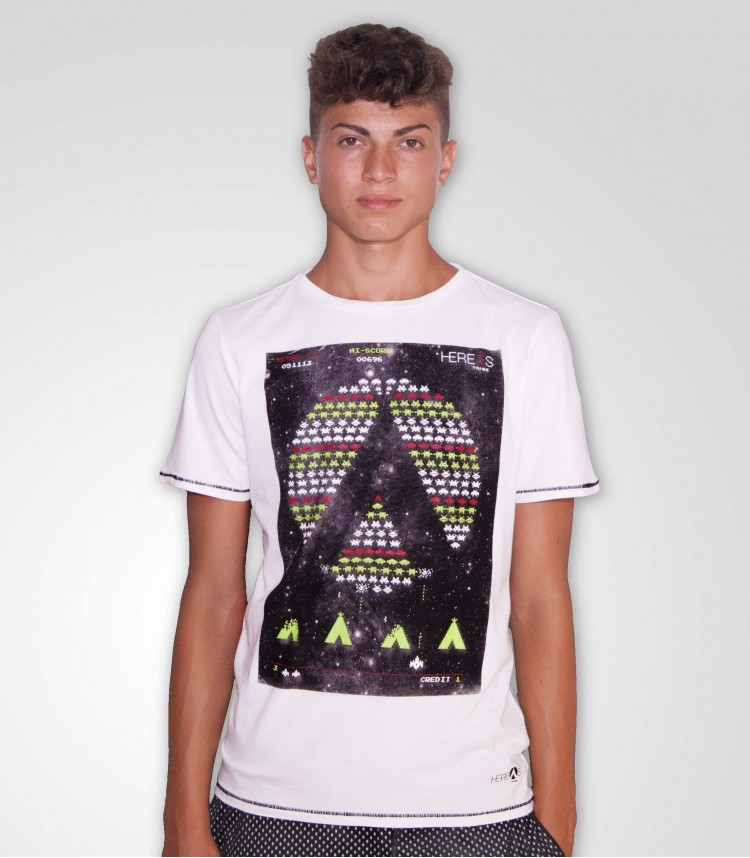 Hereas Space T-shirt white