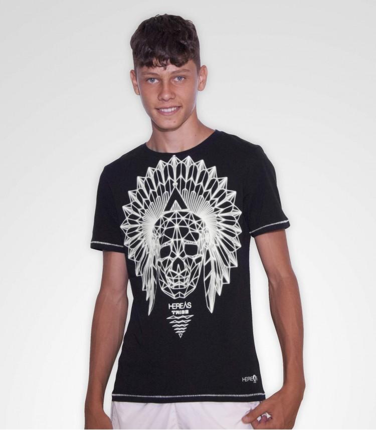 Hereas t-shirt nera Skull Beam