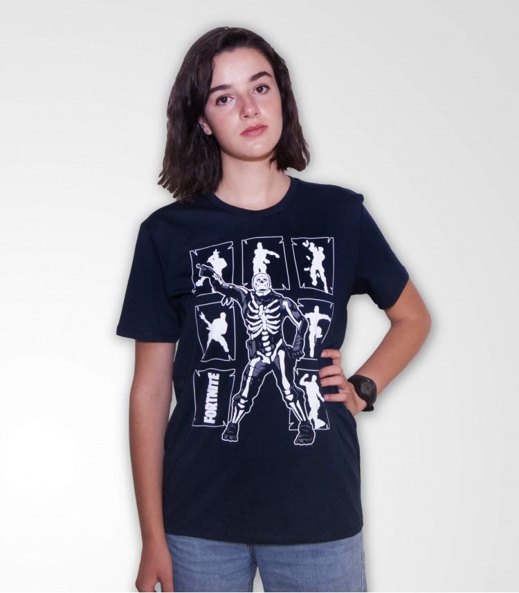 Fortnite t-shirt blu Skull...