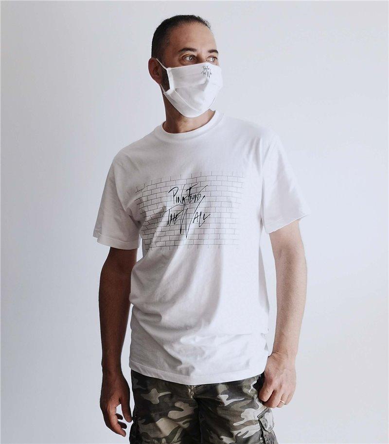 T-shirt uomo donna Pink Floyd the wall con mascherina abbinata